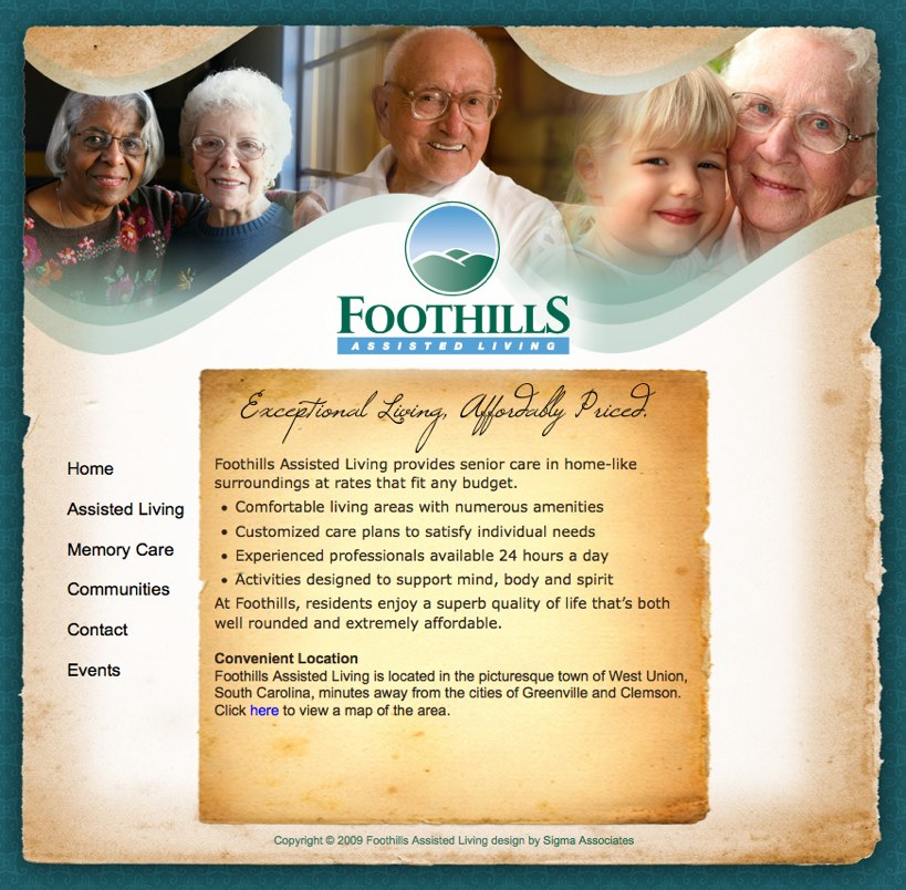 Residential assisted living business plan